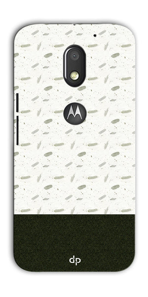 Digiprints Blak And White Art Printed Back Case Cover For Motorola Moto E3 Power