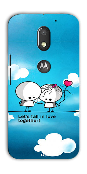 Digiprints Let'S Fall In Love Together Back Case Cover For Motorola Moto E3 Power