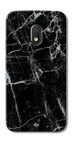Digiprints Black Marble Design 2 Printed Designer Back Case Cover For Motorola Moto G4 Play