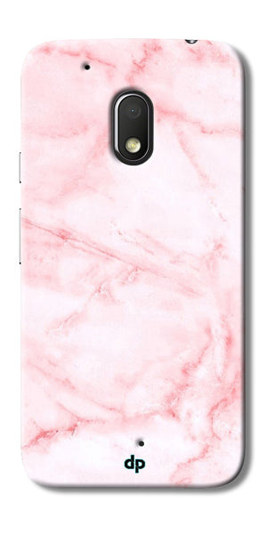 Digiprints Pink textured Marble Design 4 Printed Designer Back Case Cover For Motorola Moto G4 Play