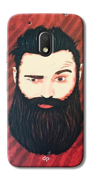 Digiprints Beard Man Printed Design Back Case Cover For Motorola Moto G4 Play