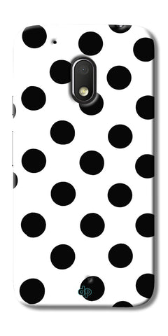 Digiprints Black Polka Dots Printed Back Case Cover For Motorola Moto G4 Play