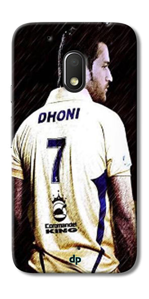 Digiprints Ms Dhoni Art Printed Back Case Cover For Motorola Moto G4 Play