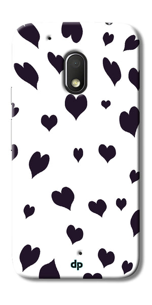 Digiprints Small Heart Printed Designer Back Case Cover For Motorola Moto G4 Play