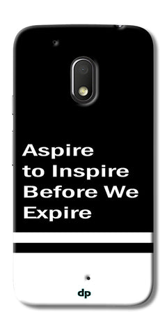 Digiprints Aspire To Inspire Printed Back Case Cover For Motorola Moto G4 Play
