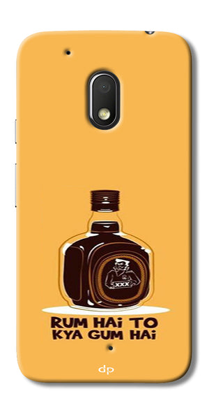 Digiprints Rum Hai To Kya Gum Hai Printed Back Case Cover For Motorola Moto G4 Play