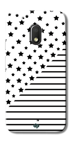 Digiprints Star And Strips On White Printed Back Case Cover For Motorola Moto G4 Play