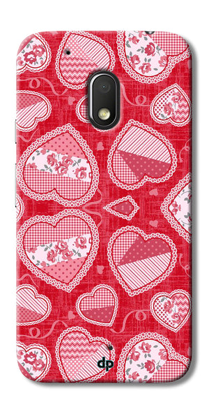 Digiprints Beautiful Pink Heart Design Printed Back Case Cover For Motorola Moto G4 Play
