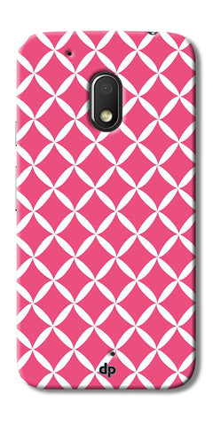 Digiprints Pink Pattern Printed Back Case Cover For Motorola Moto G4 Play