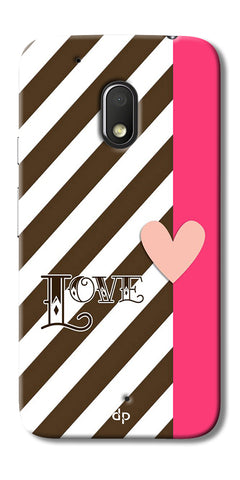Digiprints Love Heart Printed Back Case Cover For Motorola Moto G4 Play