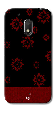 Digiprints Red Flower Pattern Back Case Cover For Motorola Moto G4 Play