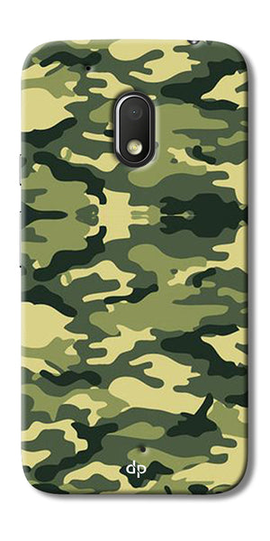 Digiprints Army Pattern Back Case Cover For Motorola Moto G4 Play