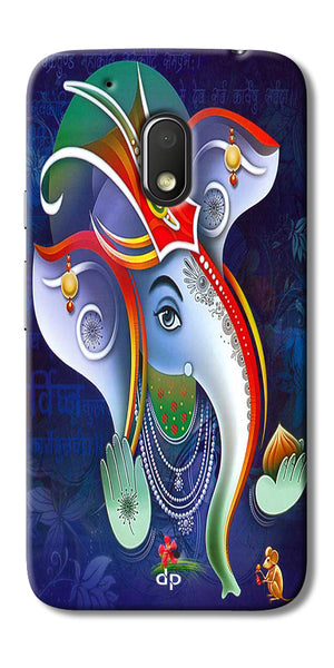 Digiprints Lord Ganesha Back Case For Motorola Moto G4 Play
