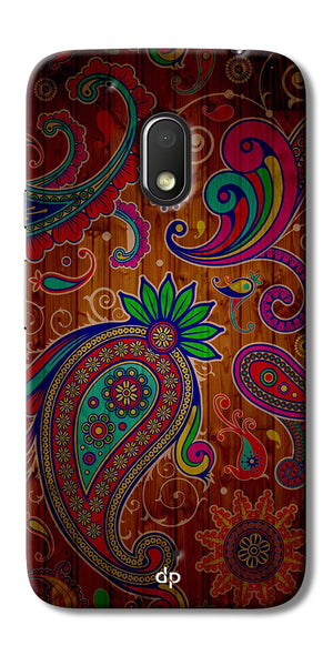 Digiprints Ethnic Wooden Art Back Case For Motorola Moto G4 Play