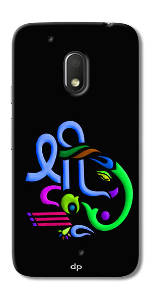 Digiprints Graphic Design Ganesha Back Case Cover For Motorola Moto G4 Play