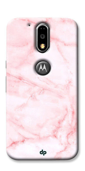 Digiprints Pink textured Marble Design 4 Printed Designer Back Case Cover For Motorola Moto G4 Plus