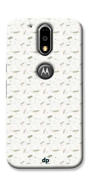 Digiprints White Patches Design Printed Back Case Cover For Motorola Moto G4 Plus