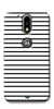 Digiprints Black Horizontal Strips Designer Printed Back Case Cover For Motorola Moto G4 Plus