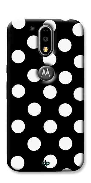 Digiprints White Polka Dots Printed Back Case Cover For Motorola Moto G4 Plus