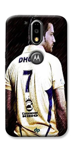 Digiprints Ms Dhoni Art Printed Back Case Cover For Motorola Moto G4 Plus