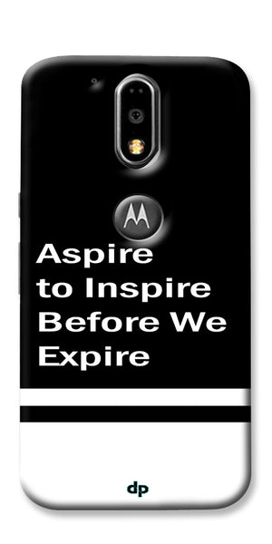 Digiprints Aspire To Inspire Printed Back Case Cover For Motorola Moto G4 Plus