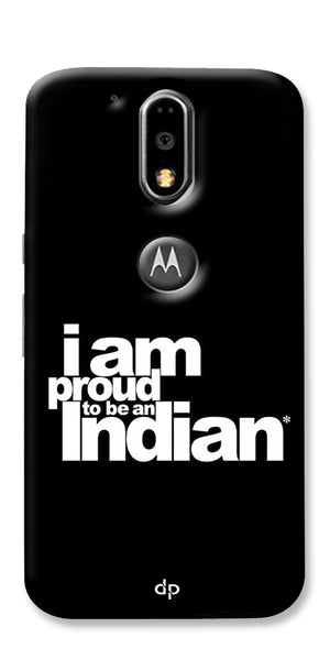 Digiprints I Am Proud To Be An Indian Printed  Back Case Cover For Motorola Moto G4 Plus
