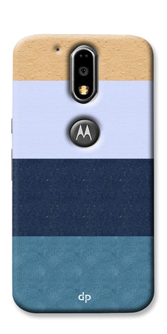 Digiprints Colourful Wall Strips Printed Back Case Cover For Motorola Moto G4 Plus