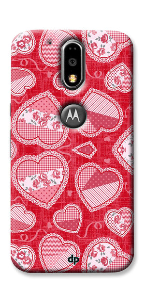 Digiprints Beautiful Pink Heart Design Printed Back Case Cover For Motorola Moto G4 Plus