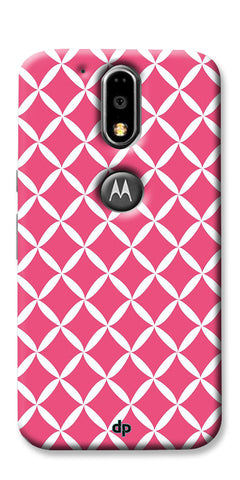 Digiprints Pink Pattern Printed Back Case Cover For Motorola Moto G4 Plus