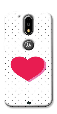 Digiprints Pink Heart Printed Back Case Cover For Motorola Moto G4 Plus