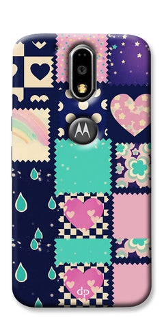 Digiprints Love Mix Pattern Printed Back Cover For Motorola Moto G4 Plus