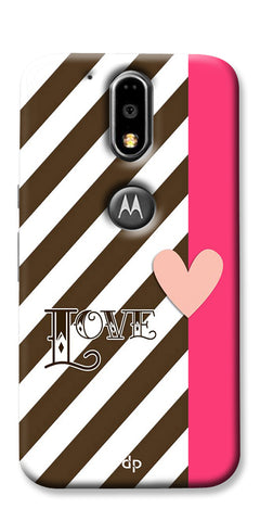 Digiprints Love Heart Printed Back Case Cover For Motorola Moto G4 Plus