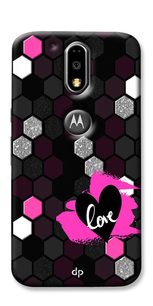 Digiprints Pretty Love Back Case Cover For Motorola Moto G4 Plus