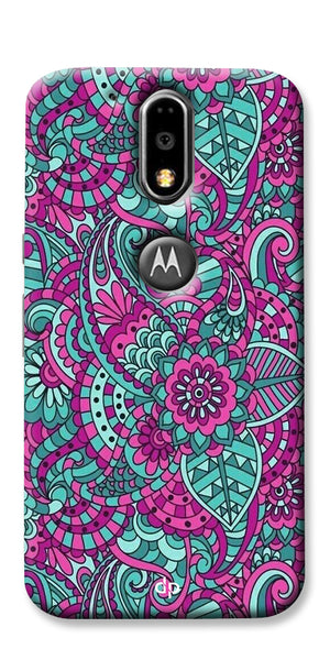 Digiprints Mandala Púrpura  Pattern Back Case Cover For Motorola Moto G4 Plus
