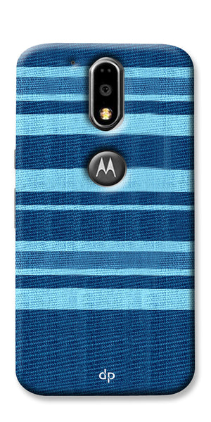 Digiprints Blue Denim Pattern Back Case Cover For Motorola Moto G4 Plus