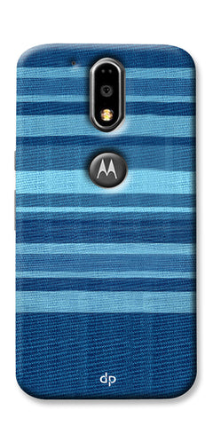 Digiprints Big Blue Denim Pattern Back Case Cover For Motorola Moto G4 Plus