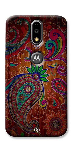 Digiprints Ethnic Wooden Art Back Case For Motorola Moto G4 Plus