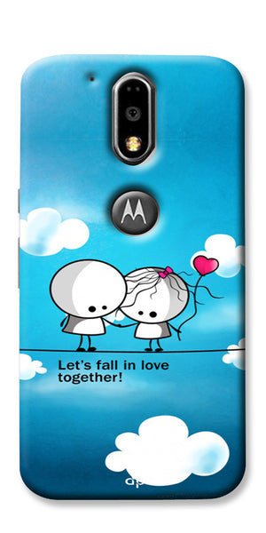Digiprints Let'S Fall In Love Together Back Case Cover For Motorola Moto G4 Plus