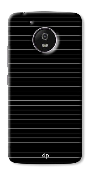 Digiprints Stripes On Black Printed Designer Back Case Cover For Motorola Moto G5 Plus