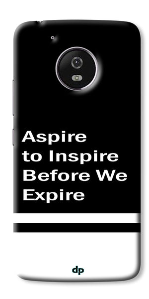 Digiprints Aspire To Inspire Printed Back Case Cover For Motorola Moto G5 Plus