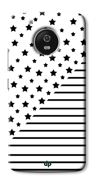 Digiprints Star And Strips On White Printed Back Case Cover For Motorola Moto G5 Plus