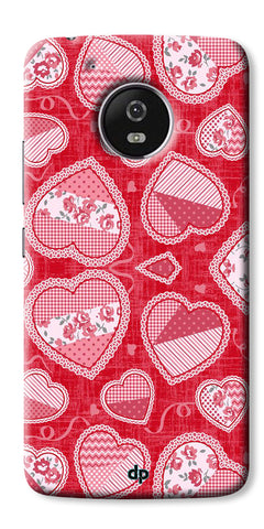 Digiprints Beautiful Pink Heart Design Printed Back Case Cover For Motorola Moto G5 Plus