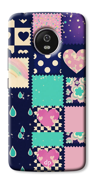 Digiprints Love Mix Pattern Printed Back Cover For Motorola Moto G5 Plus