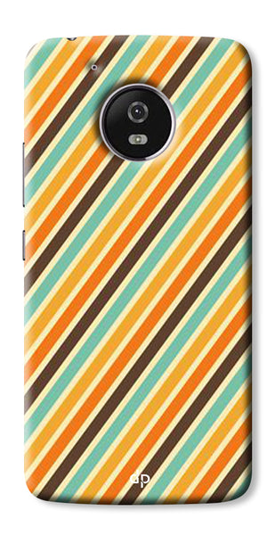 Digiprints Signature Red Patterns Back Case Cover For Motorola Moto G5 Plus