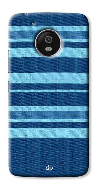 Digiprints Blue Denim Pattern Back Case Cover For Motorola Moto G5 Plus