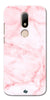 Digiprints Pink textured Marble Design 4 Printed Designer Back Case Cover For Motorola Moto M