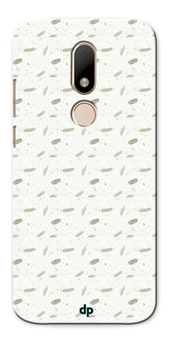 Digiprints White Patches Design Printed Back Case Cover For Motorola Moto M