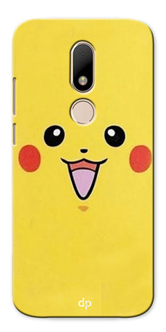 Digiprints Pikachu Pokemon Back Case Cover For Motorola Moto M