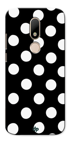 Digiprints White Polka Dots Printed Back Case Cover For Motorola Moto M