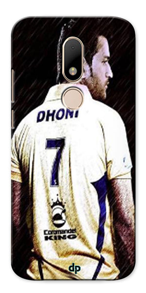 Digiprints Ms Dhoni Art Printed Back Case Cover For Motorola Moto M